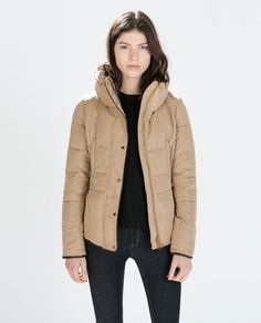 Image 1 of FITTED SHORT ANORAK from Zara