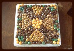 Trinity Cross Bean Coaster Tile by DesignsByCaro on Etsy, $12.50