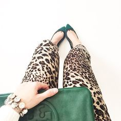 Leopard & Hunter Green