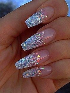 40 Amazing Glitter Nail Art Design Ideas For Ladies in 2019. {You want this nails? 😋} 👉DOUBLE CLICK ON IMAGE!👈