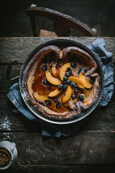 Peach and Blueberry Dutch Baby with Homemade Peach Jam