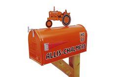 Hey, I found this really awesome Etsy listing at https://www.etsy.com/listing/494208599/allis-chalmers-tractor-mailbox