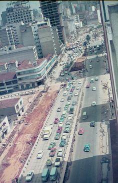São Paulo, Brasil • obras do metro de SP - Estação Luz em 1972