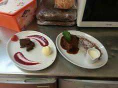 Brownie w/ & stp w/ cream