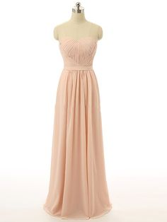 Sweetheart Chiffon Floor-length Ruffles Inexpensive Bridesmaid Dresses…