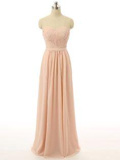 Sweetheart Chiffon Floor-length Ruffles Inexpensive Bridesmaid Dresses…