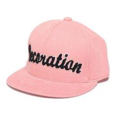 ロゴ入りコーデュロイキャップ ❤ liked on Polyvore featuring hats