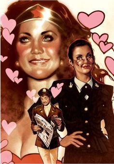 Wonder Woman Lynda Carter byAdam Hughes
