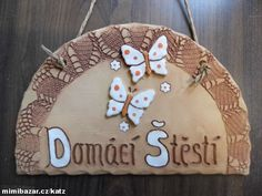 cedulka velká Name Art, Salt Dough, Clay Flowers, Hobbies And Crafts, Ceramic Pottery, Animals And Pets, Polymer Clay, Carving, Texture