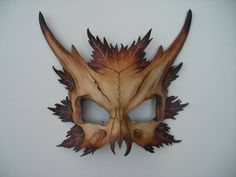 I love these! Reminds me of Shakespeare's Midsummer Night's Dream -aisi Leather Fawn skull mask