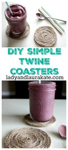 DIY Simple Twine Coasters - Lady & Laura Kate
