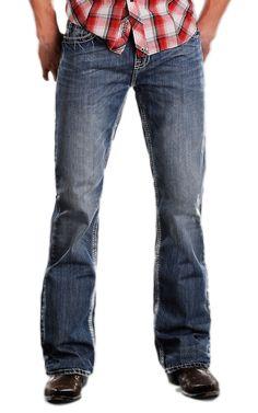 Rock & Roll Cowboy® Medium Stonewash Pistol V Double Barrel Slim Fit Boot Cut Jeans | Cavender's Boot City