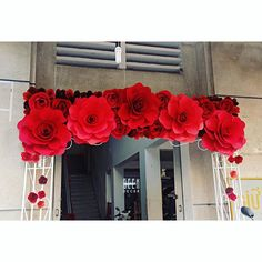 Once in a lifetime #weddingday #red #paperflowers #vivid #beautiful #weddingdecor #flowers #GEEKsg #saigon #2015 #nice #decoration #savethedate #work #love