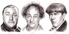 The Three Stooges - Curly, Larry and Moe. The Three Stooges were an American vaudeville and comedy act of the century, best known for the. The Three Stooges The Stooges, The Three Stooges, Larry, Black White Tattoos, Abbott And Costello, Celebrity Drawings, Celebrity Caricatures, Laurel And Hardy, Graphite Drawings