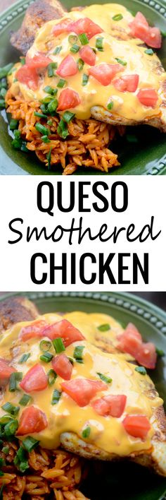 Queso Smothered Chicken - Recipe Diaries