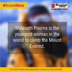 Kudos to Malavath Poorna for her courage.