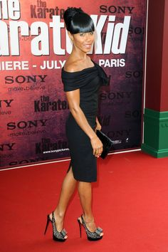 Jada Pinkett Smith Studded Heels - Jada was yet another star to sport the fabulous spiked Clou Noued slingbacks on the red carpet.