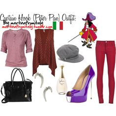 """""""Captain Hook (Peter Pan) Outfit"""" by martinafromitaly on Polyvore"""