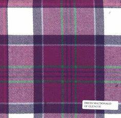 MacDonald of Glencoe Dress Tartan material