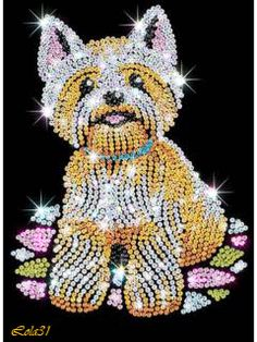 Sequin Art Westie dog craft kit from the popular Blue collection. Create your own adorable Westie using sequins and pins. Kit Creation, Cristal Art, Sequin Crafts, Art Perle, Rhinestone Art, Beautiful Wolves, Art Du Fil, Dog Crafts, West Highland Terrier