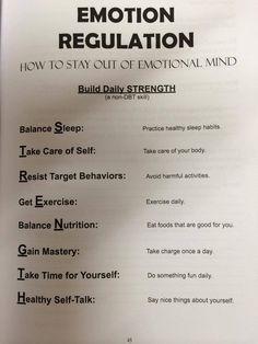 Emotion Regulation= STRENGTH
