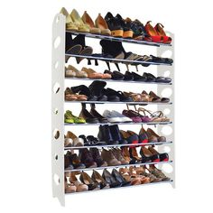 Mouse over image to zoom Details about 50 Pair 10 Tier Space Saving Storage Organizer Free Standing Shoe Tower Rack by unbrand 8 Tier Shoe Rack, 50 Pair Shoe Rack, Diy Shoe Rack, Shoe Racks, Shoe Storage Cabinet, Bench With Shoe Storage, Closet Storage, Closet Organization, Organization Ideas