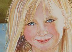 Beautiful watercolor portrait - Jennifer Taylor