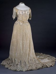 Ceremonial Court Dress, by N.P. Lamanova's Workshop, Moscow, late 19th to early 20th century, at the State Hermitage Museum