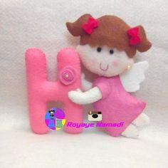 #felt #baby #gift #cute #angel #royayenamadi #عروسک #نمدی #زیبا