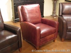 leather chair with nail heads- Country Willow Furniture