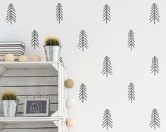 Dramatically convert the look of your living space with these pine tree wall decals, giving your walls the look of a custom paint job without any of the hassle! These decals were created from my original design and arent available from any other seller :)  ***ITEM DETAILS***  • Each tree measures between 3.7 - 4 tall  • There are 3 different styles of pine trees included, you will receive 10 of each style for a total of 30 decals  • See 3rd preview image for available colors  • Every color…
