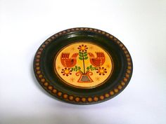 20% OFF Vintage Handcarved Wooden Plate by EasternEuropeVintage