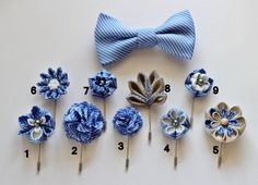 1 flower lapel pin Mens lapel flower Boutonniere by Nevestica