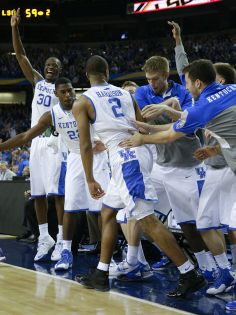The guys having fun. Loved seeing this!! It was a fun game to watch. Go Big Blue!!! | Basketball: Men | Kentucky.com