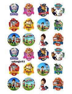 Items similar to Paw Patrol Bottle Cap Images - inch size - Great for Hair Bows, Magnets, Scrapbooking, Stickers etc on Etsy Bottle Cap Jewelry, Bottle Cap Art, Bottle Cap Crafts, Paw Patrol Weihnachten, Paw Patrol Christmas, Bottle Cap Magnets, Beer Caps, Paw Patrol Party, Idee Diy