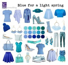 """Blauw voor het lichte lentetype. Blue for a light spring color type."" by roorda on Polyvore featuring mode, NIKE, Sies Marjan, Mulberry, Yeezy by Kanye West, BCBGeneration, Taolei, JoosTricot, Kate Spade en prAna"
