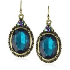 Antique Earrings ~ Fabulous Color