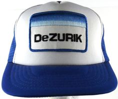 DeZURIK Valves Sartell MN Snapback Trucker Hat Cap NOS 1980s Hipster Blue  White… f8b6b99922a7