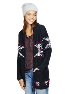TNA GAMBIER SWEATER - Long sleeve, collared zip-up featuring a Fair Isle pattern