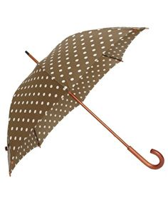 Cath Kidston Kensington Umbrella With Spot Design    @Megan Sater... My first run-in with Cath Kidston!!! I would totally rock this on rainy Seattle walks with Sunshine!