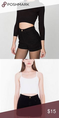 American apparel black high waisted shorts Great condition American Apparel Shorts Jean Shorts