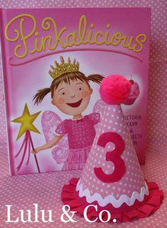Pinkalicious inspired custom birthday hat