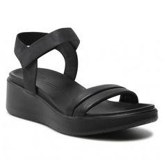 Sandały ECCO - Flowt Wedge Lx W 27330351052 Black/Black - Koturny - Klapki i sandały - Damskie | Kolekcja 2021 | eobuwie.pl Fashion Boots, Wedges, Shoes, Black, Zapatos, Shoes Outlet, Black People, Shoe, Footwear