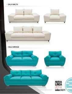 Sala malta y sala mirage de inlab muebles Lounge Sofa, Sofa Chair, Sofa Furniture, Living Room Sofa Design, Living Room Modern, Turquoise Sofa, Sofa Set Designs, Sofa Sale, Comfortable Sofa