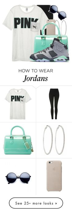 """Untitled #1090"" by niquecoldornaww on Polyvore featuring Topshop, Victoria's Secret, Roberta Chiarella, Furla and NIKE"
