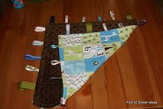 DIY Baby Ribbon Blanket. Nice and easy, plus you can be sure it matches baby's theme.