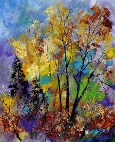 in the wood, artist Pol Ledent