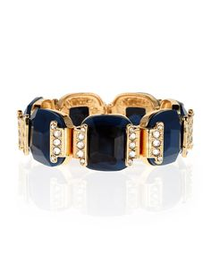 Gold is great. Blue is beautiful. Together they make a chic combo. #jewelry #bracelet #alexiacrawford #sparkle #AllThatGiltters