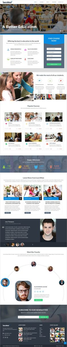 LearnMate is a professional 5in1 #bootstrap template for #education & learning management system website download now➩ https://themeforest.net/item/learnmate-learning-college-courses-education-html-theme/19037605?ref=Datasata