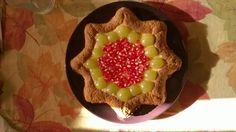 L'autunno in tavola #crostata #uva #melograno #cremapasticcera